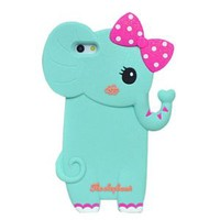 Cute Elephant with Bowknot Phone Shell Case for Iphone5/5s