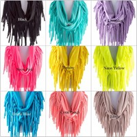 Fringe Scarf in Assorted Colors