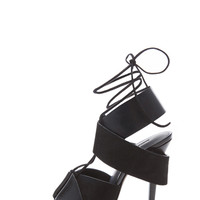 Malgosia Leather & Suede Sandals in Black