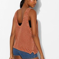 BDG Vintage-Washed Shaker Sleeveless Sweater - Urban Outfitters