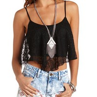 CROCHET LACE SWING CROP TOP