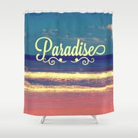 Paradise Shower Curtain by Josrick