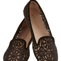 Morning, Noon, and Flight Flat in Black | Mod Retro Vintage Flats | ModCloth.com