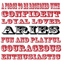 Aries Zodiac  Typography Art Print  8x8 print by MursBlanc on Etsy