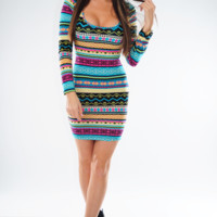 RESTOCK: Star Of The Show Dress: Multi | Hope's