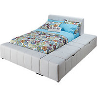Zoey White 4 Pc Full Storage Bed