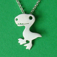 Dinosaur Necklace Halloween Necklace Sterling by zoozjewelry