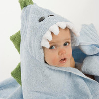 PERSONALIZED Blue Dinosaur Hooded Towel by RubADubBuddies on Etsy