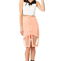 The Front and Center Skirt in Peach