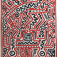 Signed Keith Haring at Fun Gallery NYC Exhibition 1983 Poster