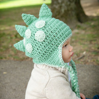 Dinosaur Dragon Hat All Sizes Available by HotOffTheHookCrochet