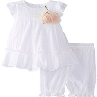 Laura Ashley London Baby-Girls Newborn Swiss Dot Dress and Pant Set