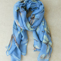 Blue Dragonfly Scarf : Vintage Inspired Clothing & Affordable Dresses, deloom | Modern. Vintage. Crafted.