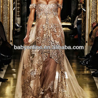 Source 2013 Sexy New Style Zuhair Murad Cap Sleeves Lace Evening Dresses Tulle Appliques Prom Gown on m.alibaba.com