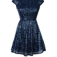 Allover Sequin Skater Dress