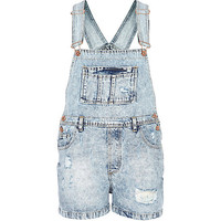 Light acid wash ripped denim overalls - overalls - playsuits / jumpsuits - women