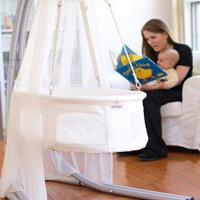 Dreambur Designer Hanging Bassinet with Grow Stand - Designer Hanging Bassinet - Cradles & Bassinets - Nursery Furniture - Baby & Kids' Furniture - Furniture