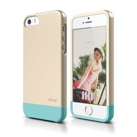 elago S5 Glide Case for iPhone 5/5S - eco friendly Retail Packaging (Champagne Gold / Coral Blue)