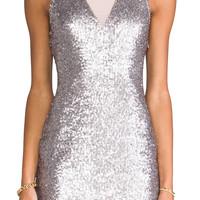 Ladakh Hollywood Sequin Dress in Matt Silver from REVOLVEclothing.com