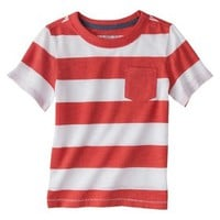 Cherokee® Infant Toddler Boys' Short Sleeve Rugby Striped Tee