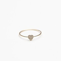 Free People Tiny Diamond Heart Ring