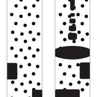Black and white Polk A Dot custom Nike Elite Socks