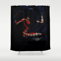 FADED (Pattern) Shower Curtain by    Amy Anderson