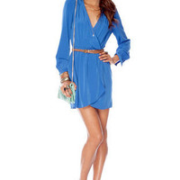 It's a Wrap Dress in Blue :: tobi