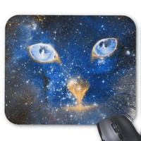 Beautiful Cosmic Kitty - Stars Mousepad