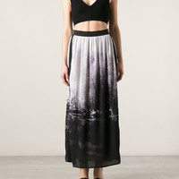 NUDE photo print skirt