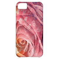 Pretty Colorful Painted Rose iPhone 5C Case