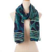 Blue Multi Sierra Wearable Art Gauze Scarf - New Arrivals - Shop | Theodora & Callum