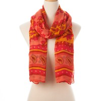 Fuchsia Multi Catalina Wearable Art Gauze Scarf - New Arrivals - Shop | Theodora & Callum