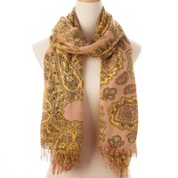 Yellow Multi Nantucket Allover Fringe Scarf - New Arrivals - Shop | Theodora & Callum