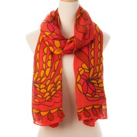 Red Multi Aruba Wearable Art Scarf - New Arrivals - Shop | Theodora & Callum