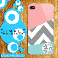 chevron pink monogram hard plastic for iphone and samsung galaxy
