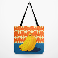 Fruit with Wallpaper (banana) Tote Bag by The Wallpaper Files