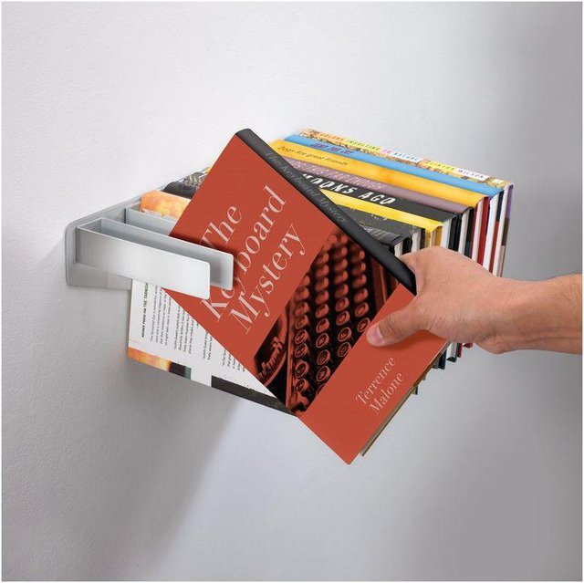 FLYBRARY BOOKSHELF | Floating Metal Book Shelf, Bookshelves Float On Wall, Modern, Unique, Fun, Functional | UncommonGoods