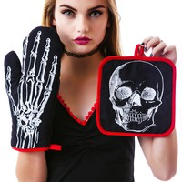 Sourpuss Clothing X-Ray Skeleton Kitchen Set