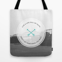 Faithfully fearless Tote Bag by Allyson Johnson