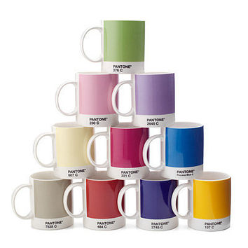 PANTONE MUG SET OF 10 | PANTONES Ten Primary Colors, Color Chip Tea And Coffee Mugs | UncommonGoods