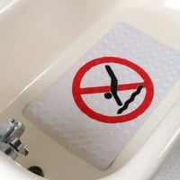 UrbanOutfitters.com &gt; No Diving Rubber Bath Mat