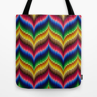Bargello Impression 1 Tote Bag by RVJ Designs