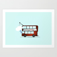 London Bus  Art Print by albertgraphics