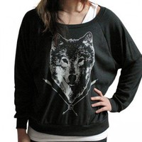 Handmade Gifts | Independent Design | Vintage Goods Spirit of the Wolf Pullover Top