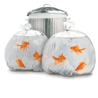 Gold Fish Trash Bags