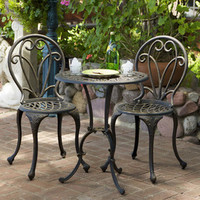 Shop Best Selling Home Decor 3-Piece Mesh-Seat Aluminum Patio Bistro Set at Lowes.com