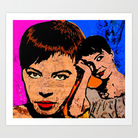 Leslie Caron-5A Art Print by The Griffin Passant
