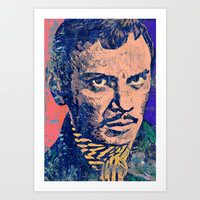 YUL BRYNNER-ALT Art Print by The Griffin Passant