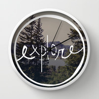 Explore Oregon Wall Clock by Leah Flores